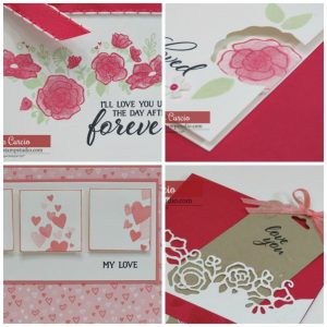 Forever Lovely card collection PDF tutorial. Multiple pictures per card, step by step instructions, supply list. Beginner or experienced. #handmadecard Lisa's Stamp Studio