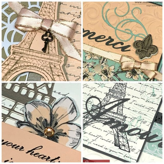 Card Making Kits by Lisa - January 2020 - Parisian Beauty. Ordering January 8-11, 2020