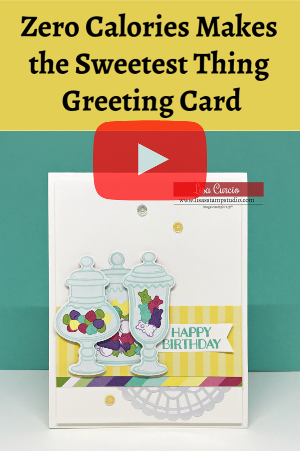 Zero Calories Makes the Sweetest Thing Greeting Card-Pinterest Image
