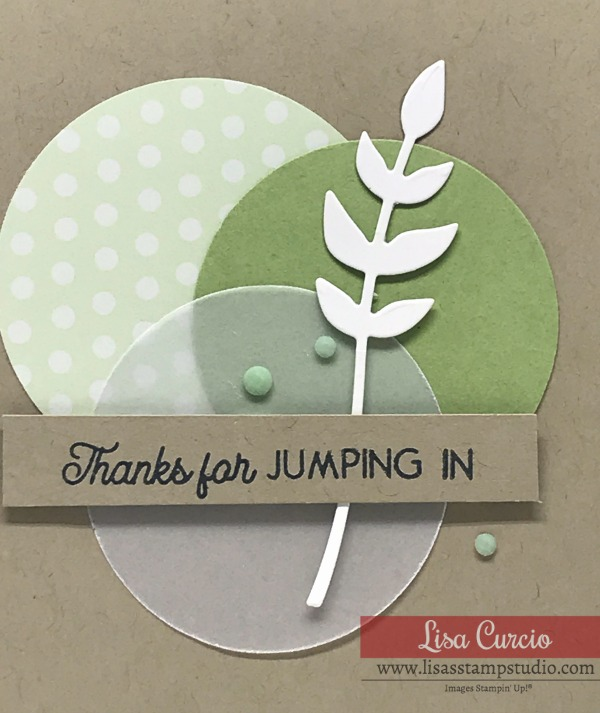 Vellum-on-a-Handmade-Thank-You-Card-with-Punched-Circles-in-Green