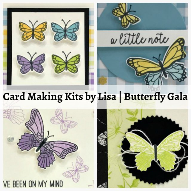 Card Making Kits by Lisa - February 2019 - Butterfly Gala. Ordering February 13-16, 2019