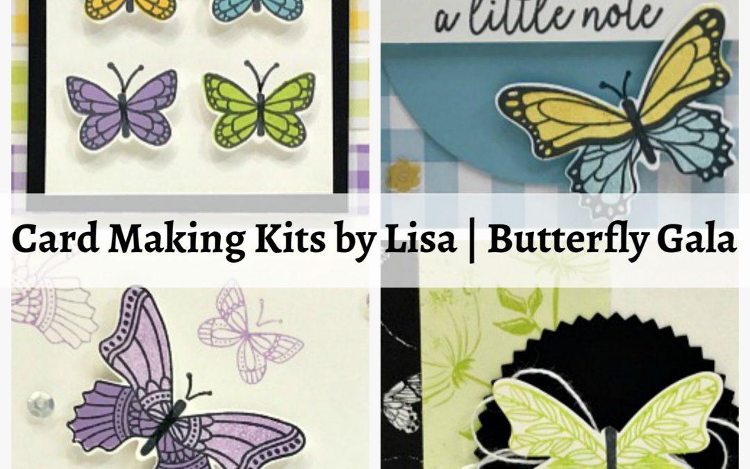 Card Making Kits by Lisa   Butterly Gala