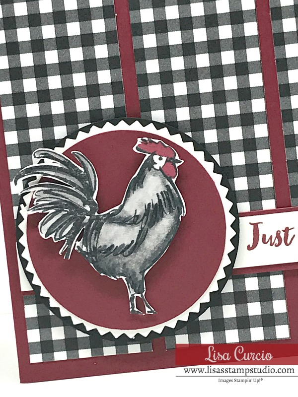 Coloring and Shading Techniques on a Rooster Note Card