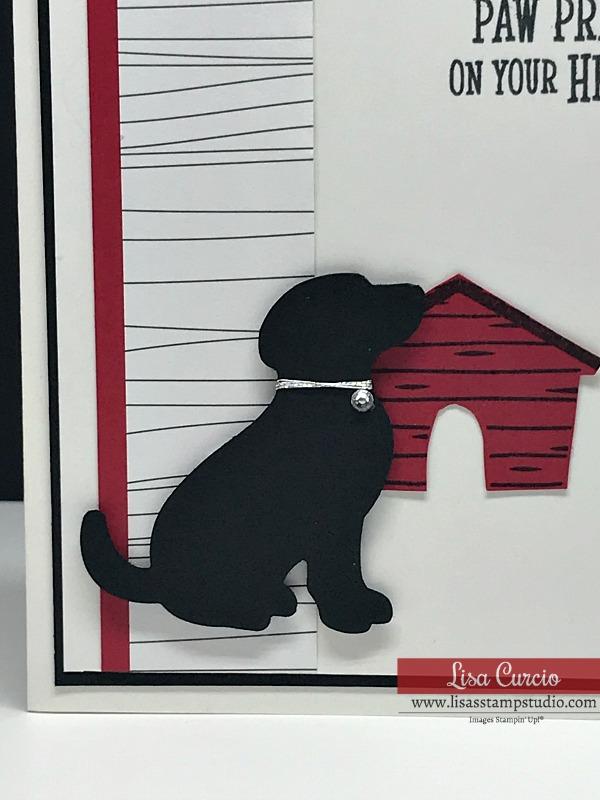 Black-Dog-with-Silver-Collar-Adorned-With-Rhinestone-Handmade-Greeting-Card