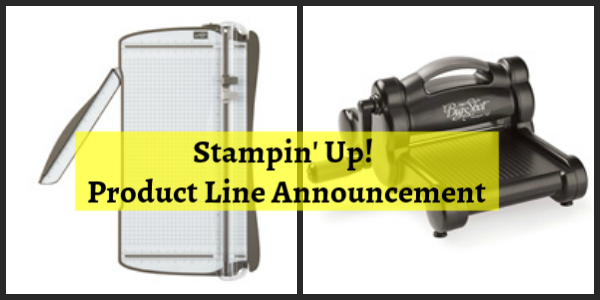 Stampin' Up! Product Line Announcement