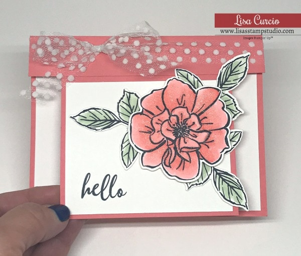 How to Make an Overlay Fun Fold Card that Glitters