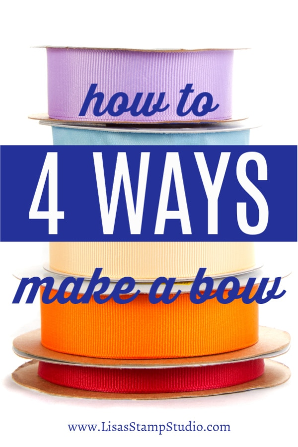 How to Make 4 Easy Bows with Ribbon