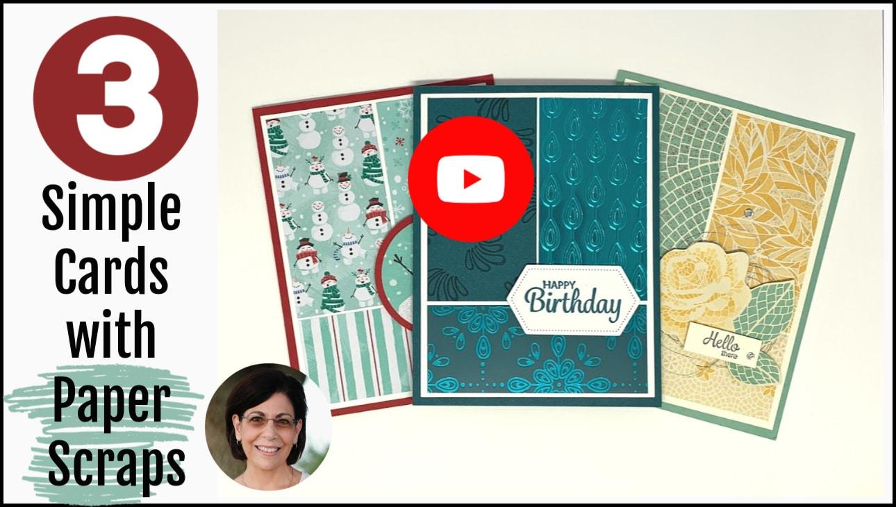 Make-3-Simple-Cards-Handmade-Paper-Scrap-Cards-Video-Tutorial