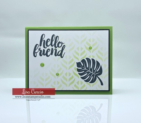 How to Stencil Cards the Easy Way