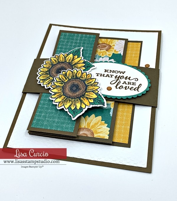 How to Make an Accordion Fun Fold Card And Celebrate Sunflowers!