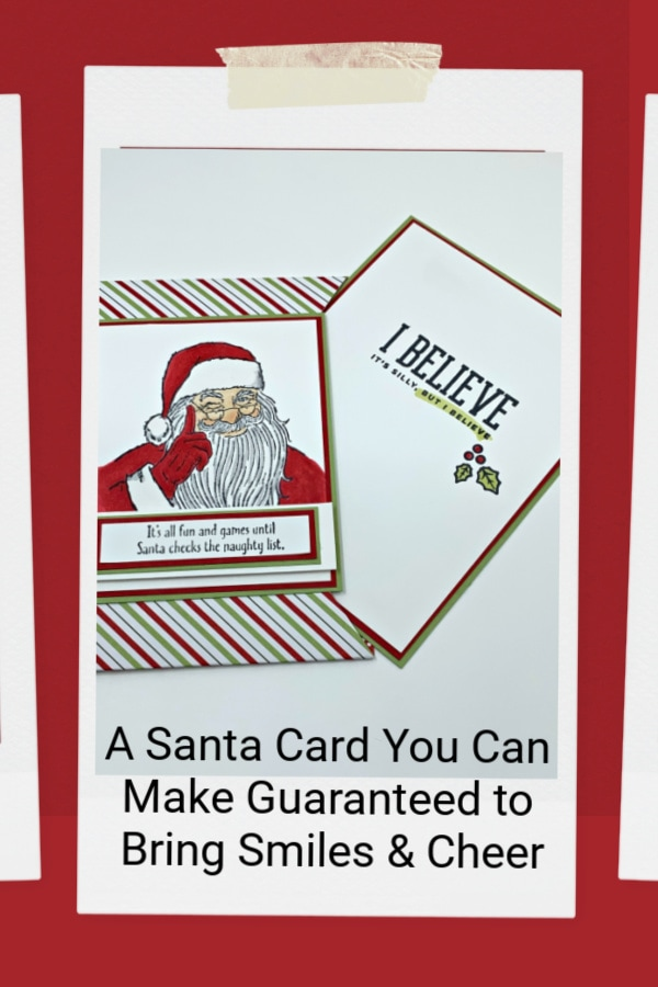 A Santa card is guaranteed to bring smiles & cheer so pin this to your Pinterest board.