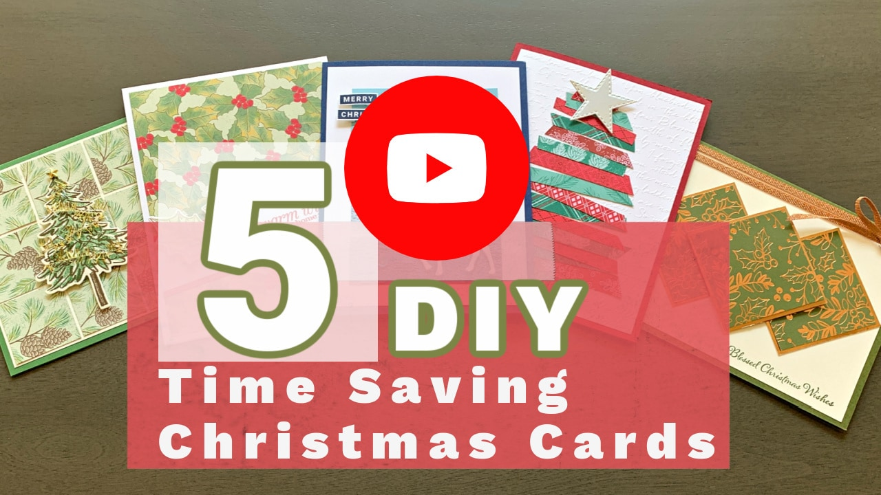 Let me show you 5 DIY Christmas Cards you can make that will save you time!