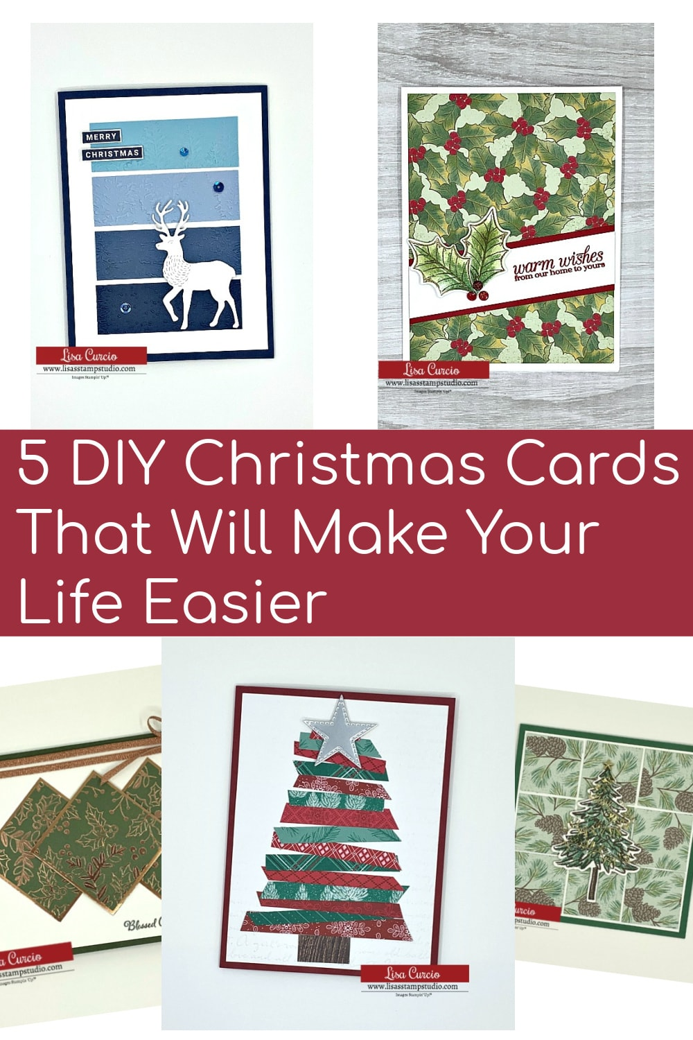 5 DIY Christmas cards you can make and save to your favorite Pinterest board