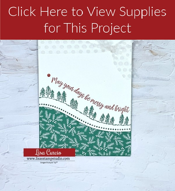 Supply List for Pine Tree and Leaves Curve Appeal Card