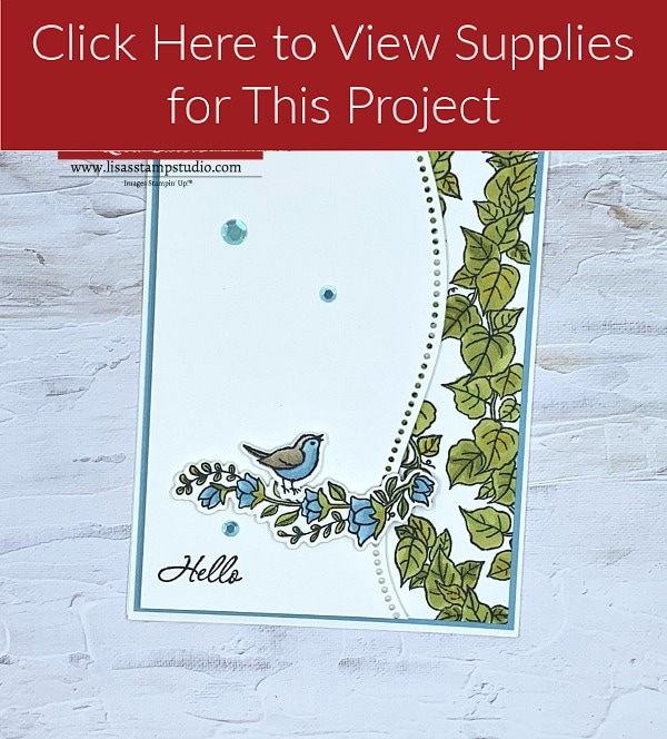 Card Making Curve Appeal Bird Card Supply List