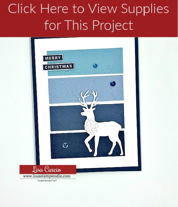 Click here to view supplies for DIY Christmas card 1