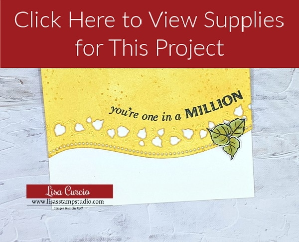 You're One in a Million Curve Appeal Card Supply List