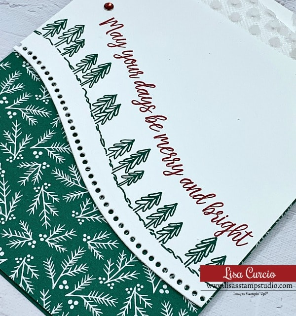 The Stampin' Up! Curvy dies are so easy to use and give fun detail to your card making