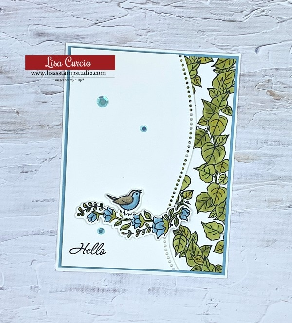 Appeal to the bird lovers in your life with this beautiful card that features a blue bird and the curvy dies and stamps