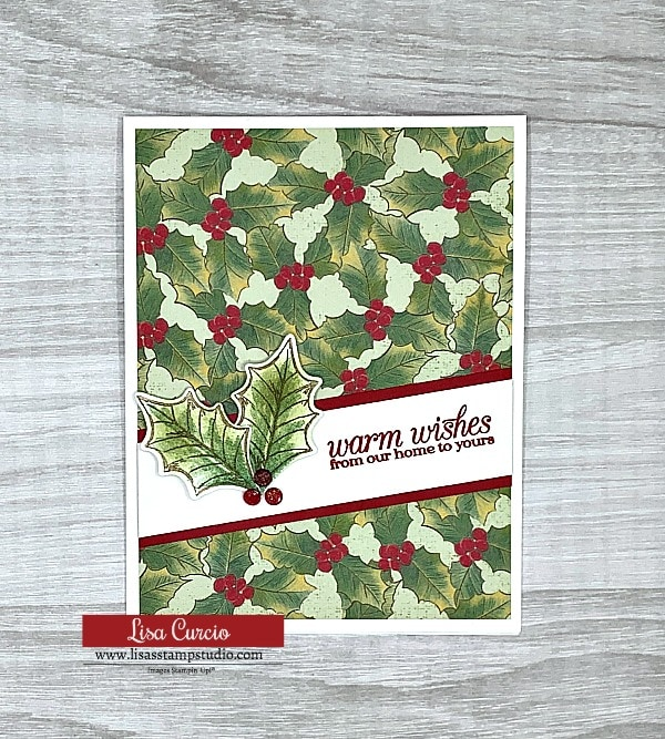 This is card 2 of 5 DIY Christmas Cards with a simple layout that makes card making a breeze