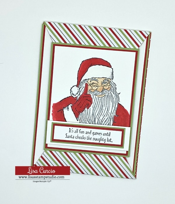 Don't Stop Believin' you can make a Santa card with a few Stampin' Blends
