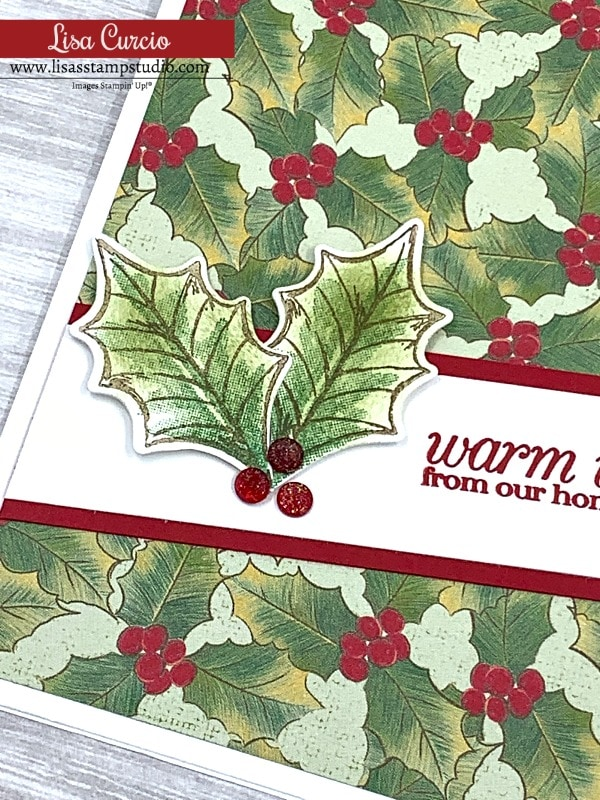 Don't forget to use your embellishments on your DIY Christmas cards