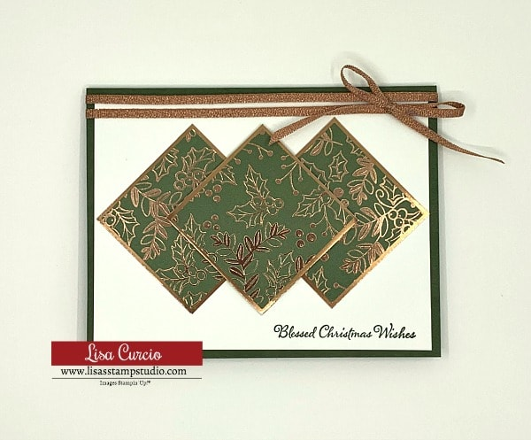 Card 4 of the 5 DIY Cards that shows off the beautiful designer series paper you have stashed