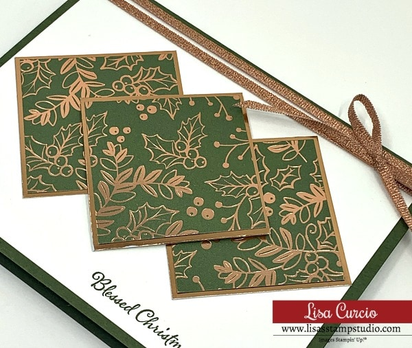 Your DIY Christmas cards can be extra special with matching ribbon