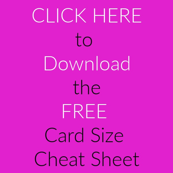 Stamping cards resource guide: card size cheat sheet