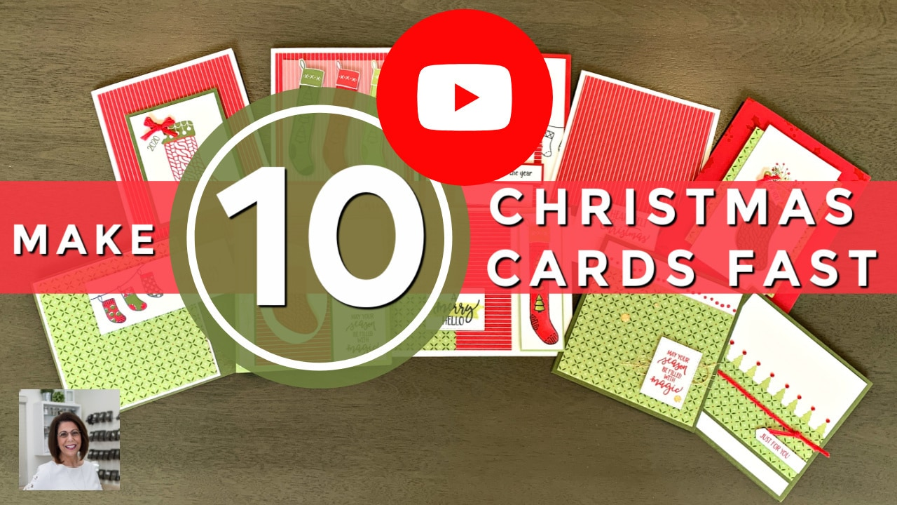 Learn how to make 10 Christmas cards video tutorial