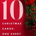 10 Christmas Cards: One Sheet Wonder