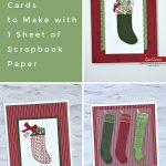 10 DIY Christmas Cards to Make with 1 Sheet of Scrapbook Paper