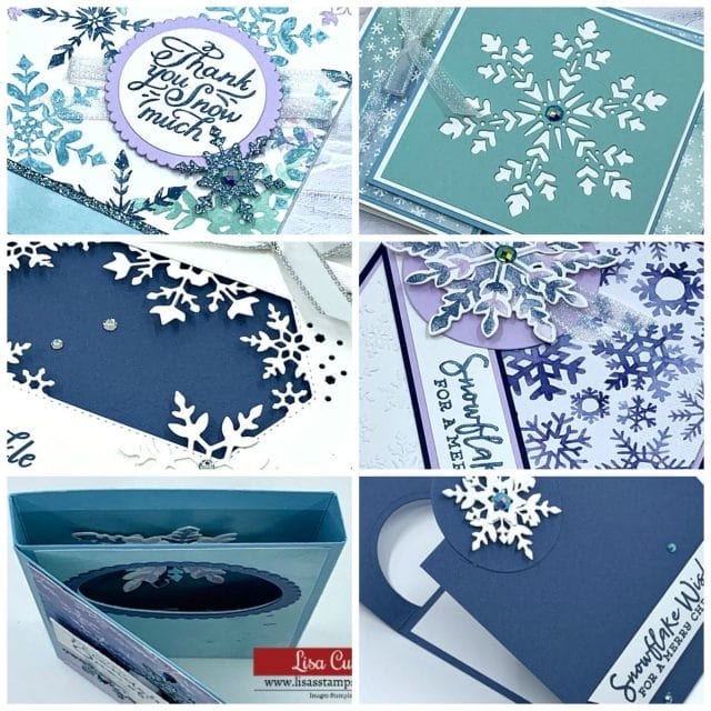 Snowflake Wishes Card Class by Lisa Curcio, Lisas Stamp Studio