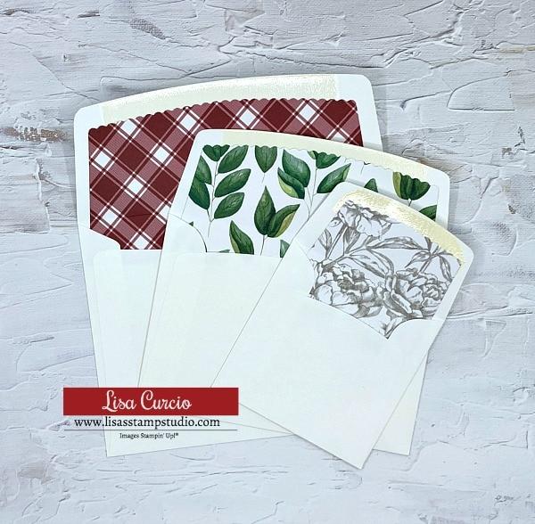 Stamping cards tip 1: line your envelopes