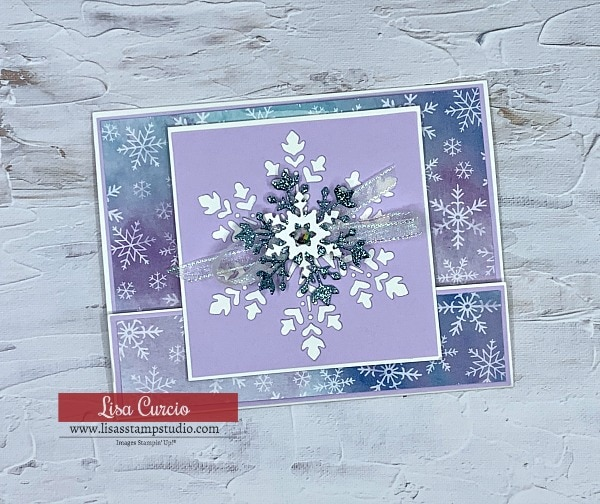 The best snowflake wishes in a lovely fun fold card.