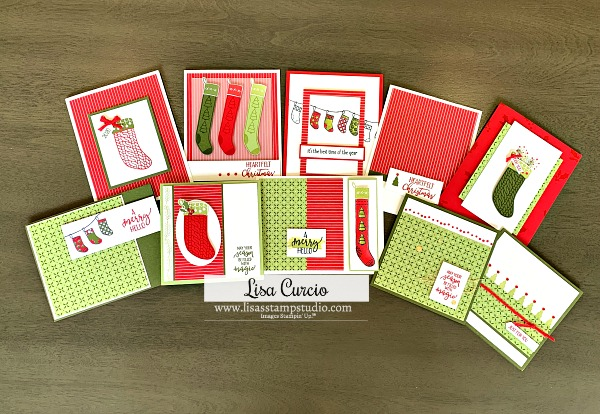 You can learn how to make Christmas cards with a little paper and stamps