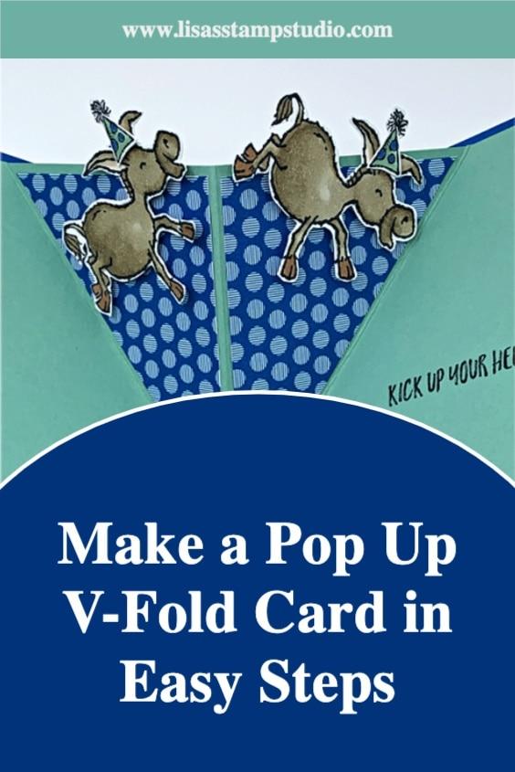 Make a Pop Up V-Fold Card in easy steps
