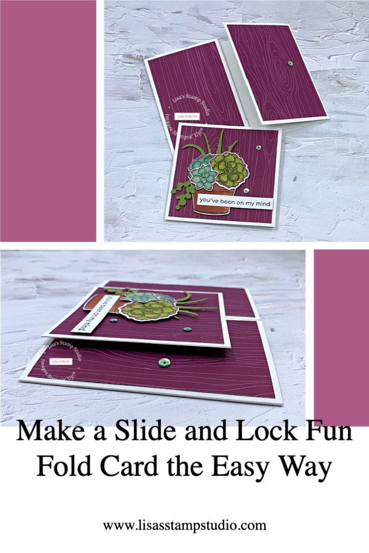 Slide and Lock Fun Fold Card