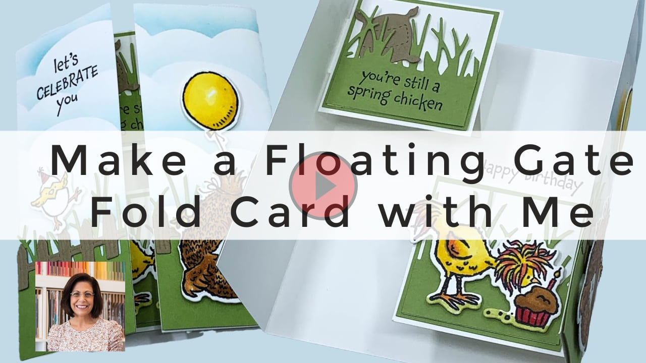 Make a floating gate fold card with me | Video Tutorial