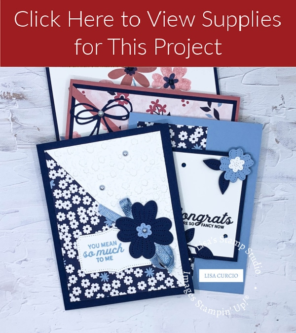 Click here to view supplies for these handmade cards