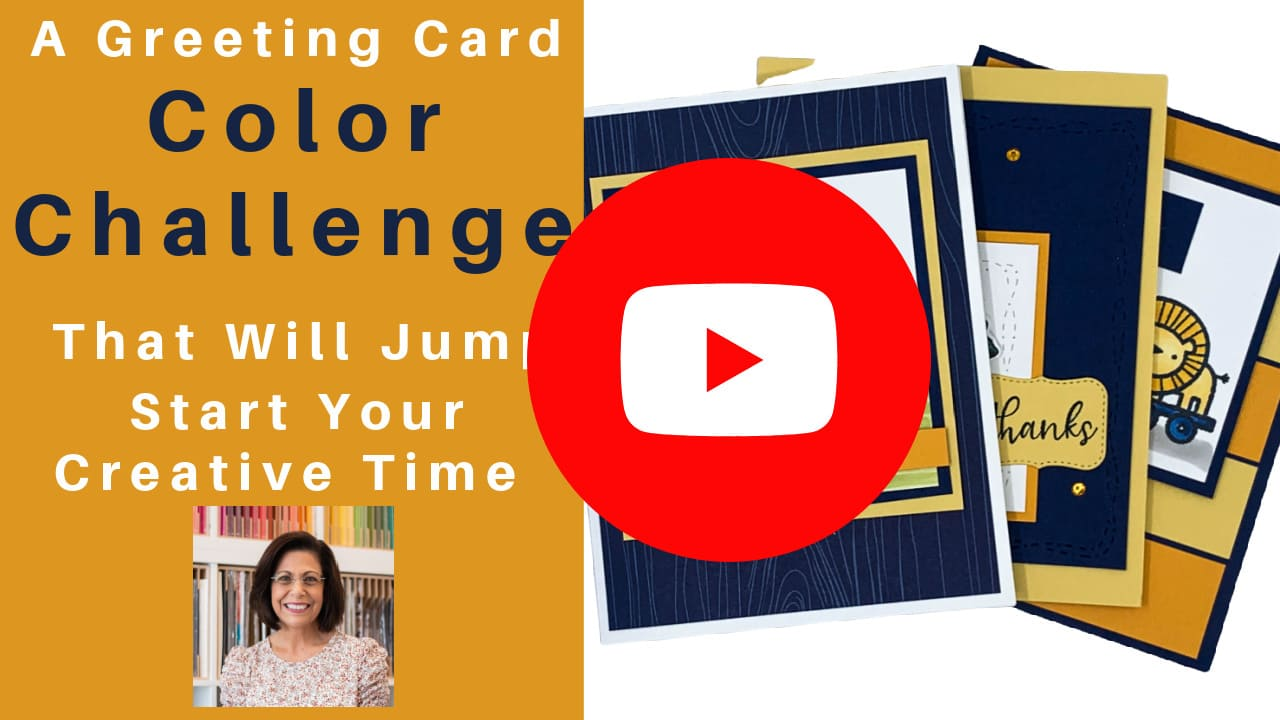 See a greeting card color challenge with 3 different card designs.