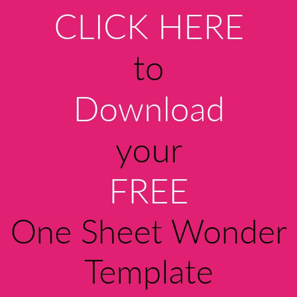 Download your free one sheet wonder template