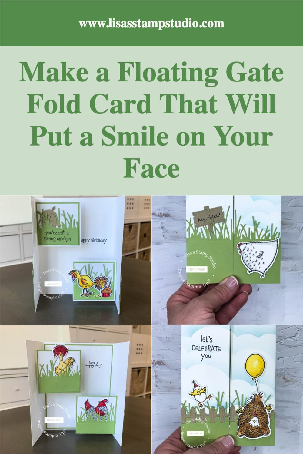 Make a floating gate fold card and save to your Pinterest board