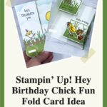 Stampin' Up! Hey Birthday Chick Fun Fold Card Idea