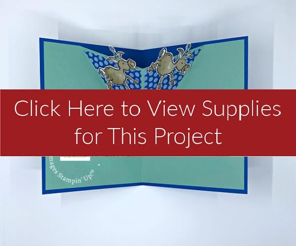 Pop Up V-Fold Card Supply List with Darling Donkeys