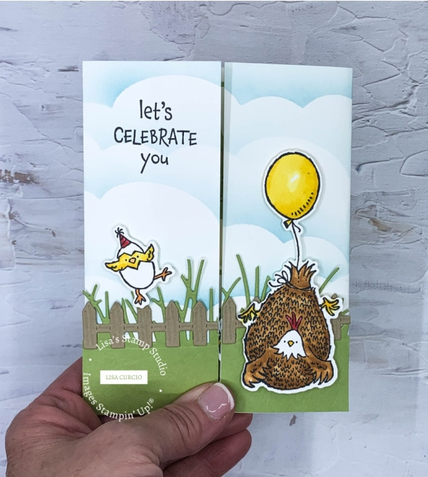 You'll get addicted to making floating gate fold cards with this adorable chick with balloon