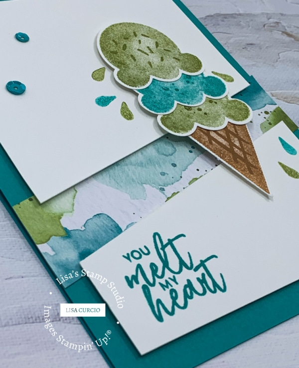 I love the punches ice cream and cone on this greeting card layout
