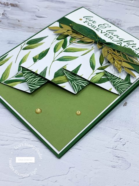 This drapery fold is easy to make and it all starts with beautiful designer paper.