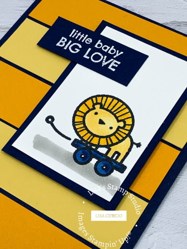 Little baby big love greeting card
