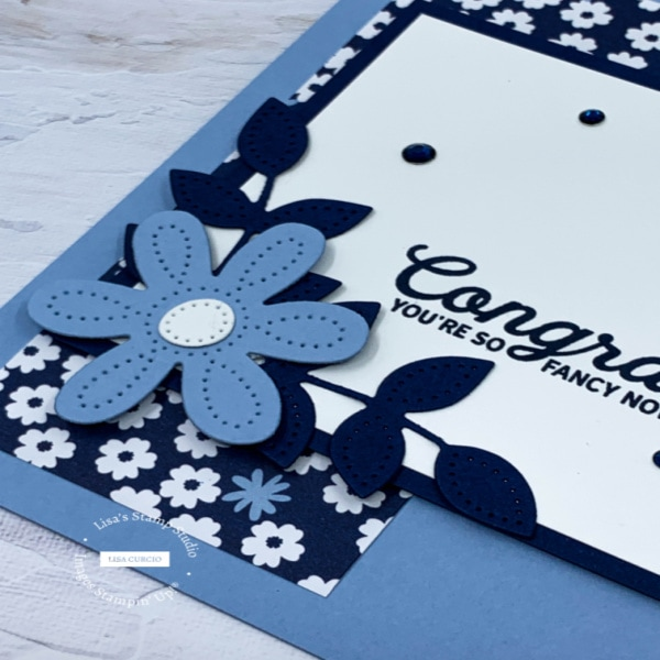 The stitched dies really add something special to this handmade card
